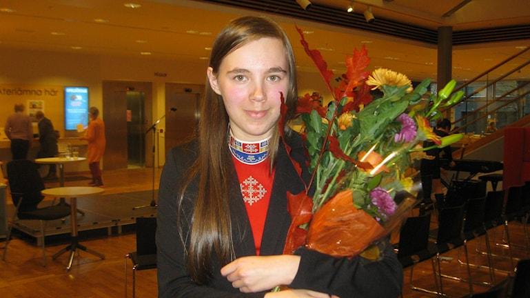 Moa Backe vinnare av lilla Erik Lindegrenpriset 2015 Foto: Anna Widén/P4 Norrbotten