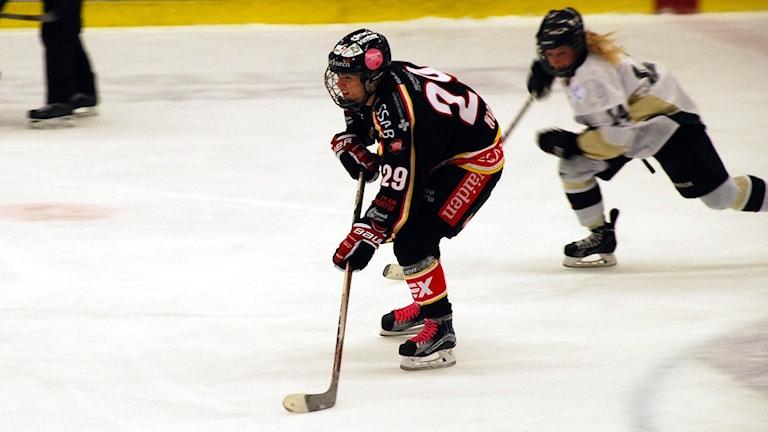 Emma Nordin, Luleå hockey/MSSK. Foto: Hjalmar Lindberg/Sveriges Radio.
