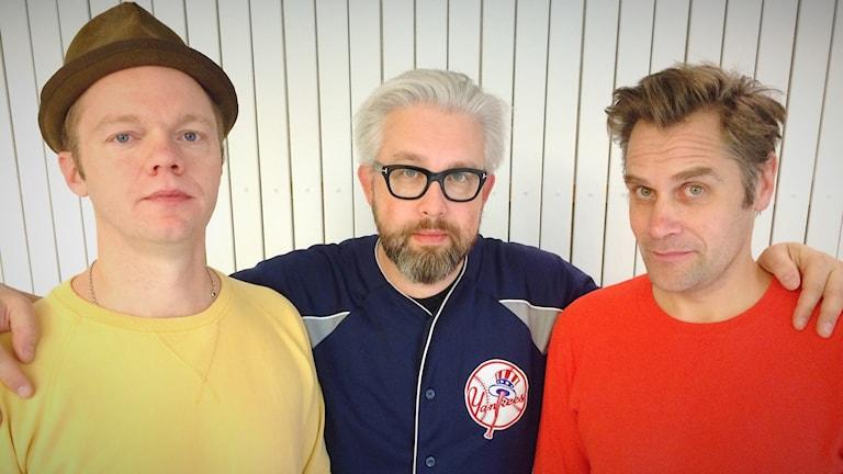 Olof Wretling, Bengt Strömbro och Sven Björklund. Foto: Anna Lidé/Sveriges Radio.