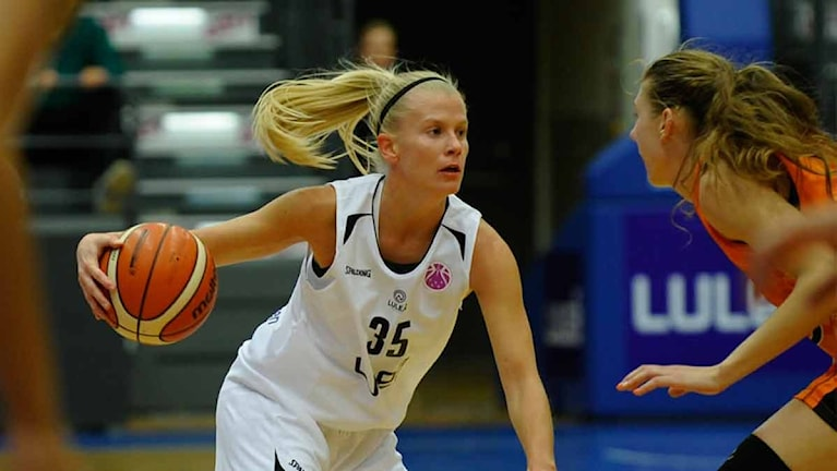 Luleå Baskets Julie Vanloo. Foto: Alf Lindbergh/Pressbilder.