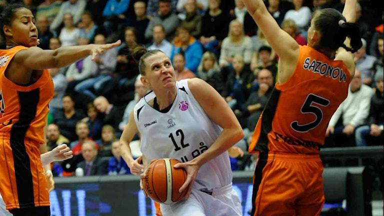 Luleå Baskets Anna Barthold. Foto: Alf Lindbergh/Pressbilder.