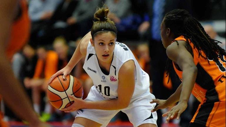 Luleå Baskets Katie Bussey. Foto: Alf Lindbergh/Pressbilder.