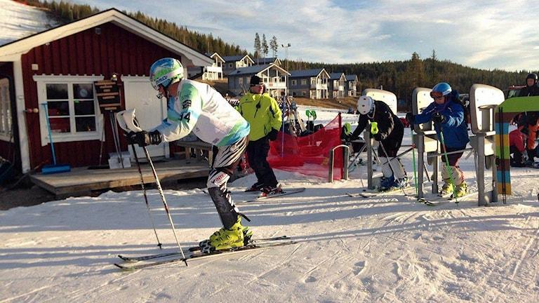 Liftkö i Kåbdalis. Foto: Jon Hedström/Sveriges Radio.