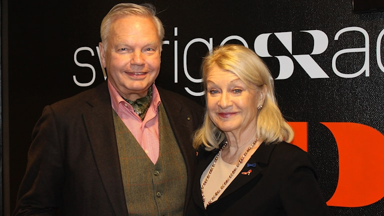Carl Jan Granqvist och Alexandra Charles. Foto: Marcus Nilsson/Sveriges Radio.