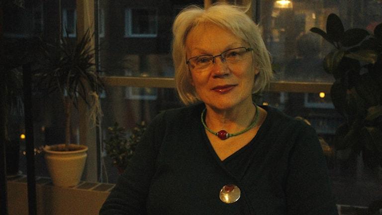 Britta Marakatt Labba. Foto: Fanny Bergvall/Sveriges Radio.