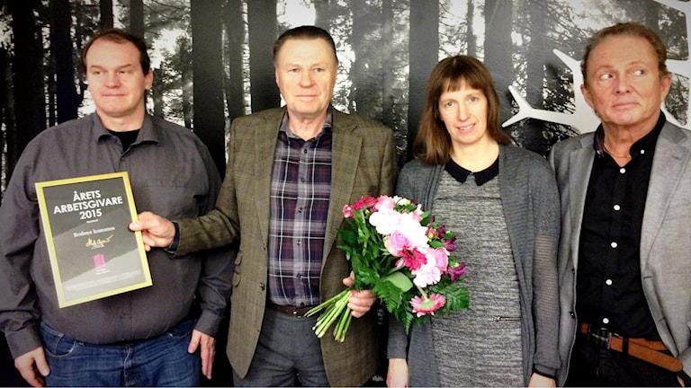 Henrik Andersson (FP), Inge Andersson (S), Katarina Ask (MP), Kenneth Backgård, Norrbottens sjukvårdsparti. Foto: Anna Lidé/Sveriges Radio.