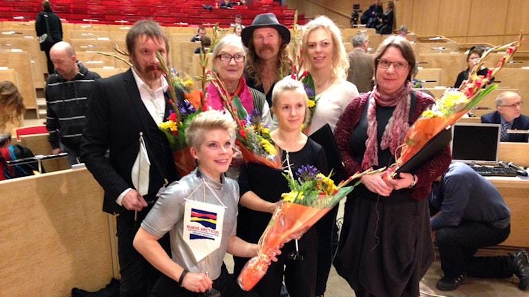 Stipendiater 2015. Foto: Per Vallgårda/Sveriges Radio.