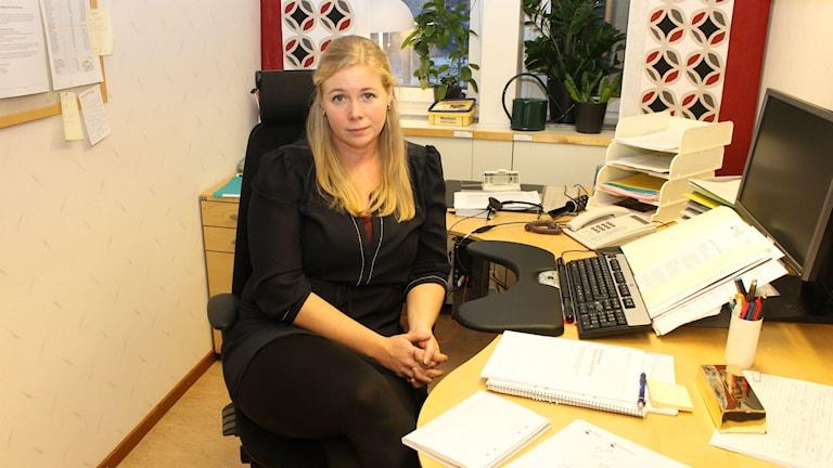 Lisa Sandström Miljöinspektör Piteå kommun. Foto: Eleonor Norgren/Sveriges Radio