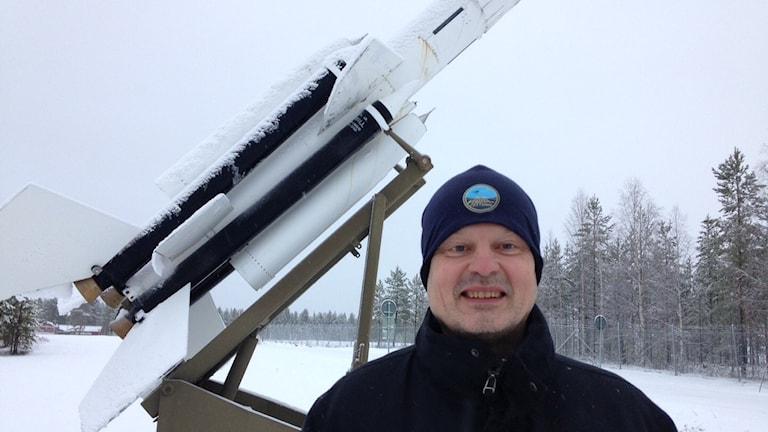 Mats Hakkarainen, chef provplatsen vid FMV Vidsel. Foto: Per Vallgårda/ Sveriges Radio.