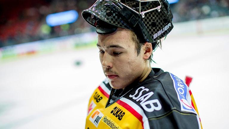 Samuel Ward, målvakt i Luleå Hockey. Foto: Adam Ihse/TT.
