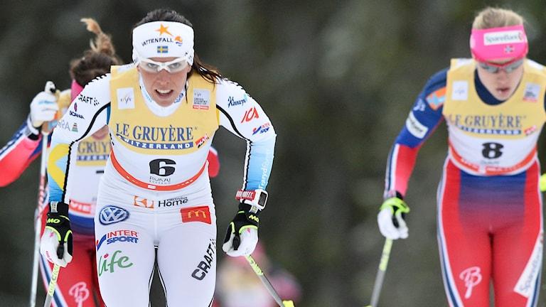 Charlotte Kalla. Foto: Anders Wiklund/TT