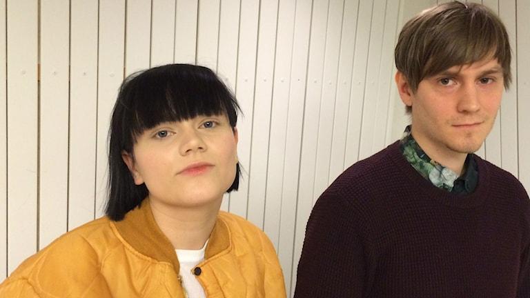 Delar av The Magnettes: Rebecka Digervall och Tomas Bäcklund Thuneström. Foto: Tova Nilsson/Sveriges Radio