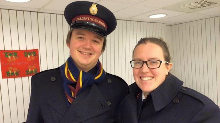Kathleen Johansson och Erik Johansson. Foto: Tova Nilsson/Sveriges Radio.