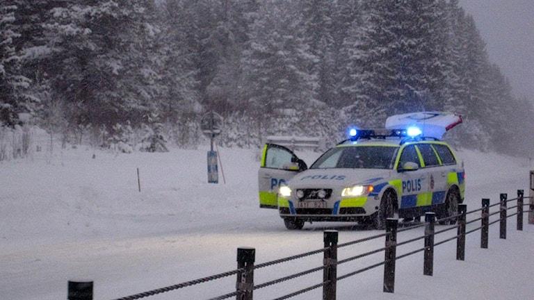 Arkivbild. Polisen stängde av E4. Foto: Sveriges Radio.