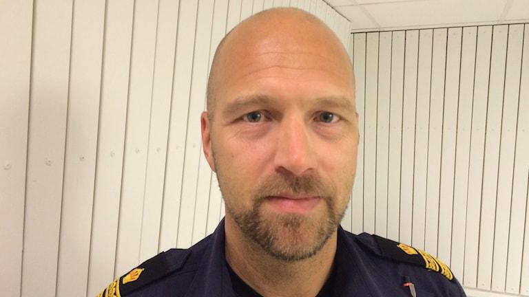 Trafikpolis Daniel Pettersson. Foto: Tova Nilsson/Sveriges Radio