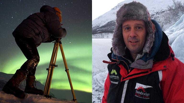 Peter Rosén, naturfotograf. Foto: Peter Rosén/LapplandMedia och Linnea Luttu/Sveriges Radio.