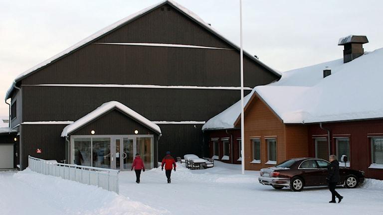 Ett nytt vård- och omsorgsboende har byggts på Lombolo i Kiruna. Foto: Alexander Linder/ Sveriges Radio.