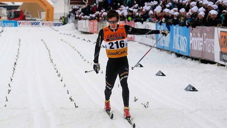 Marcus Hellner knep silvret i 15 km klassiskt. Foto: Alf Lindbergh/Pressbilder.