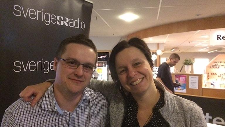 André Pettersson och Lena Callne är två av medarbetarna vid Sveriges Radio Norrbotten.