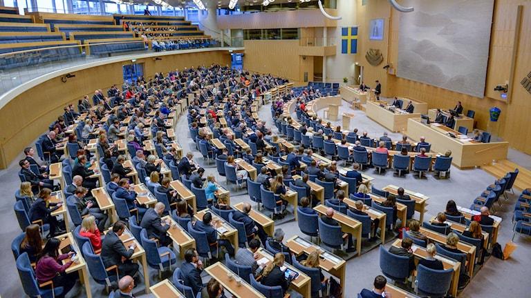 Riksdagssammanträde. Foto: Jessica Gow/TT