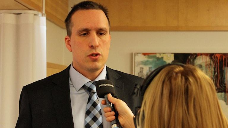 Niklas Lind, ordförande Gällivare tingsrätt. Foto: Alexander Linder/Sveriges Radio