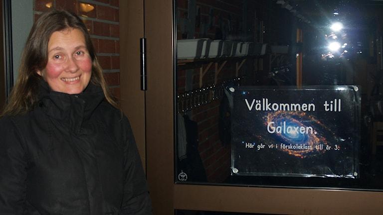 Föräldern Lena Andersson på Norrskenets friskola. Foto: Elin Carlansson.