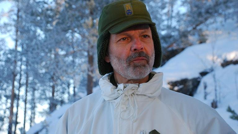 Arméchefen Anders Brännström på markstridsdagarna i Boden. Foto: Marcus Nilsson/Sveriges Radio