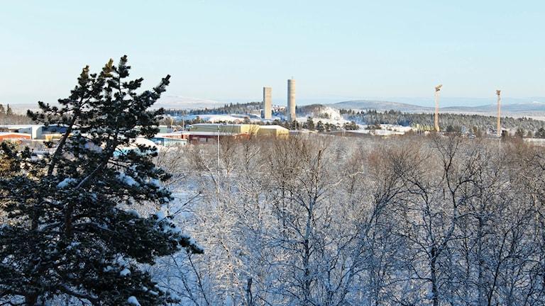 Brandstationen ska byggas strax sydväst om nya centrum i Kiruna.