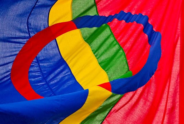 Samernas flagga. Foto: TT.