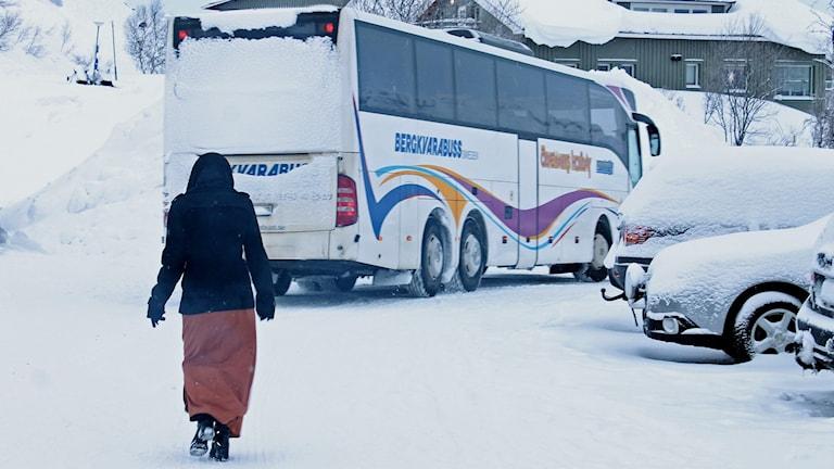 För ungefär en vecka sedan lämnade flyktingarna det tillfälliga asylboendet i Riksgränsen.