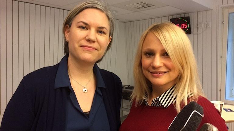 Beteendevetaren Linnea Hedman och statistikern Helena Backman.