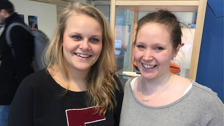 LTU-tjejerna Louise Olofsson och Sophia Caspár var nöjda med resan och kom tillbaka till Luleå med ett större kontaktnät.