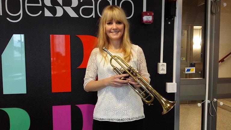 Amanda Lindgren Clarin är jazzmusiker och receptionist på Kulturens hus i Luleå.