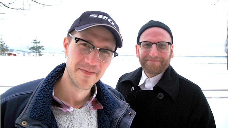 Viktor Fors Mäntyranta och Anders Fischer i Surunmaa sjunger psalmer på meänkieli, på en ny CD från Svenska kyrkan.