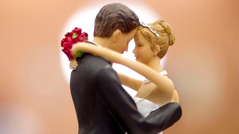 Figurer från bröllopstårta.