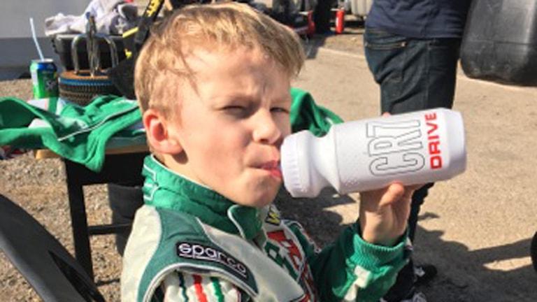 Joel Bergström, 8 år, gokartförare från Piteå.