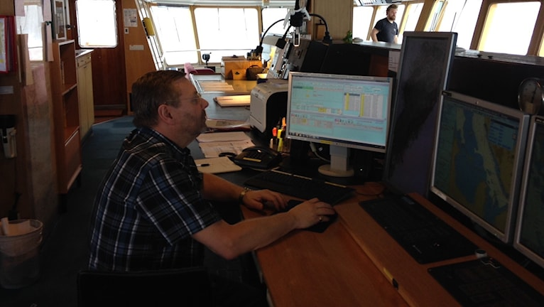 Kent Björnvik, befälhavare ombord på isbrytaren Ymer.