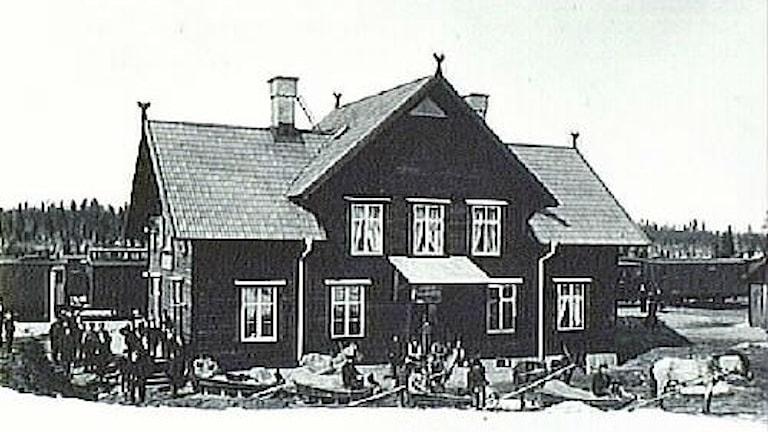 Morjärvs järnvägsstation år 1902