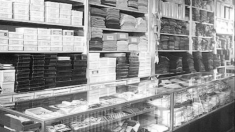 Gällivare, interiör butik, Lalanders syaffär