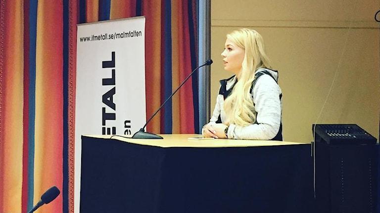 Elin Näslund har valts till ordförande för IF Metall Malmfälten.