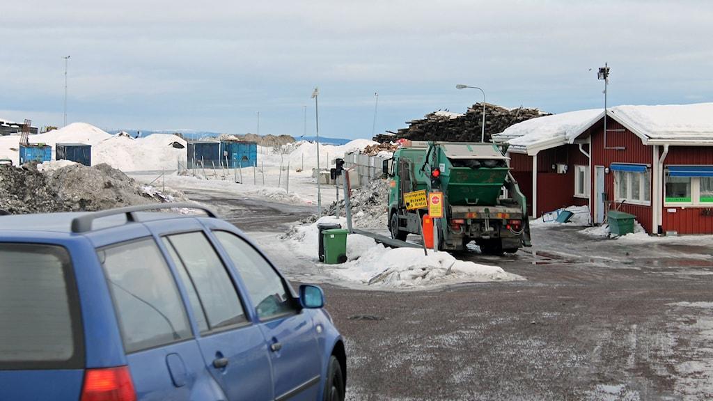 Avfallsanläggningen i Kiruna.