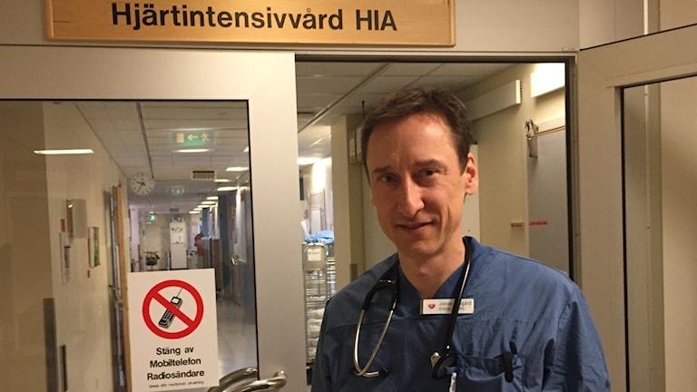 Jonas Millgård, överläkare Kompetenscentrum för hjärtsjukvård