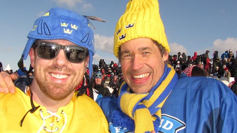 Toranda on ice. Mattias Kemi från Vaxholm uppvuxen i Vittangi, Rikard Forsberg från Stockholm uppvuxen i Kiruna.