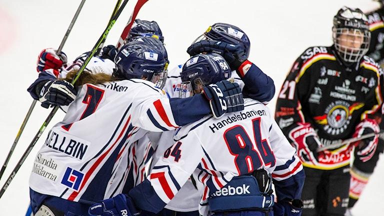 Linköping efter att de reducerat till 3-1 i finalen mot Luleå hockey/MSSK.