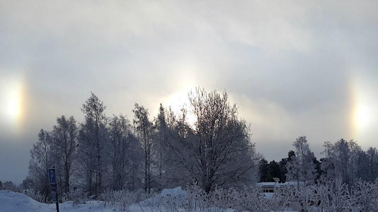 Carina Wennberg har fångat ett annorlunda väderfenomen med sin kamera.
