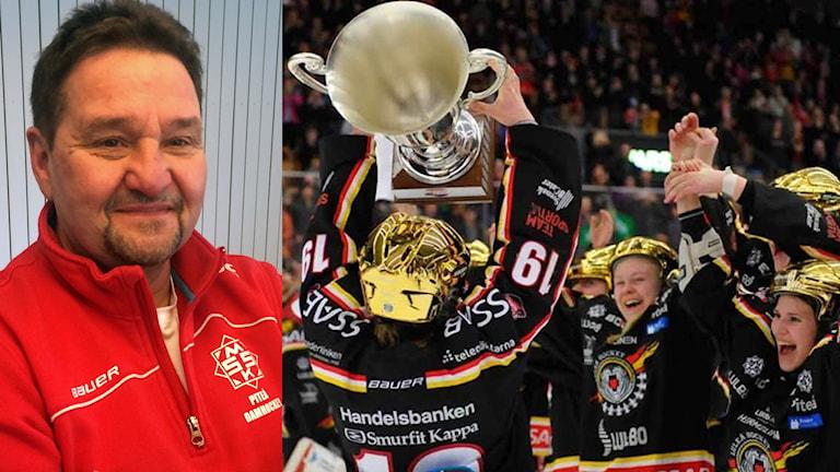 Stefan Bäckström grundade damlaget i MSSK, som efter samarbete med Luleå Hockey fick höja SM-bucklan.