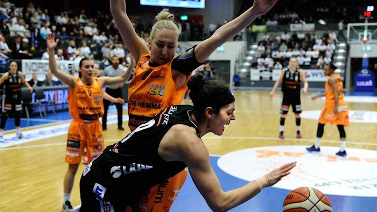 Luleå Baskets Sofie Hendrickxs.Foto Alf Lindbergh pressbilder AB