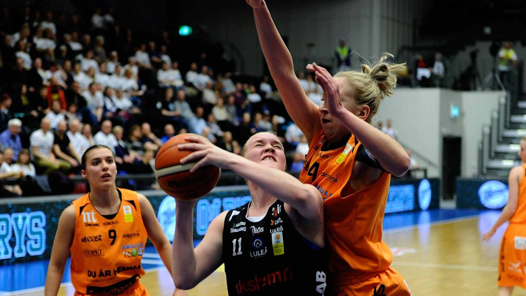 Luleå Baskets Allis Nyström mot Norrköping.