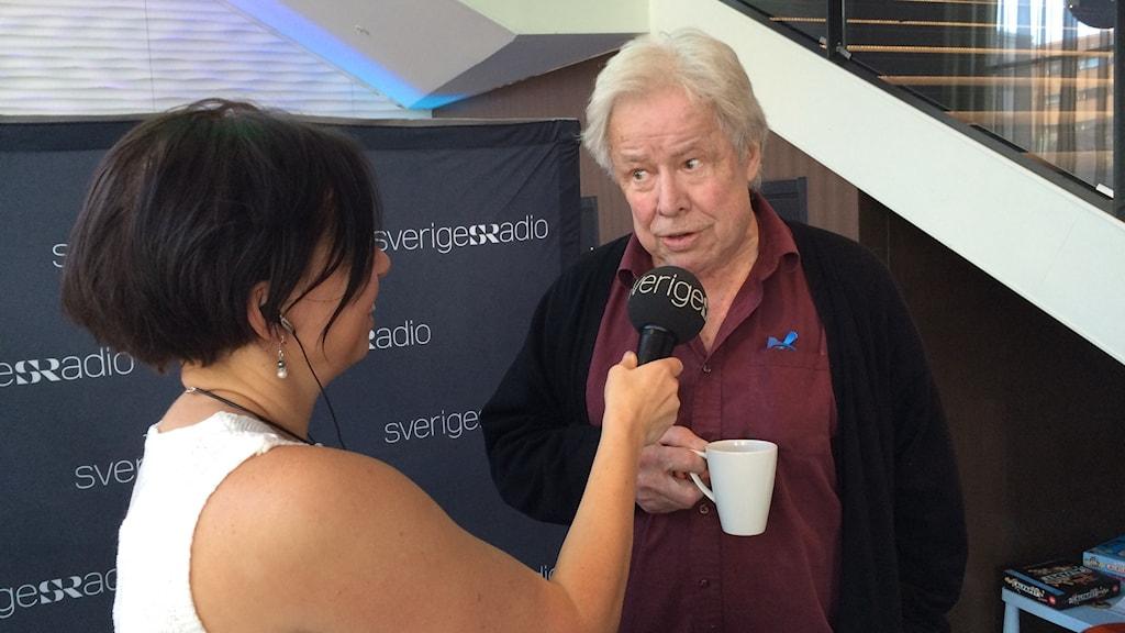Sven Wollter, en av gästerna på P4 Norrbottens te-party.