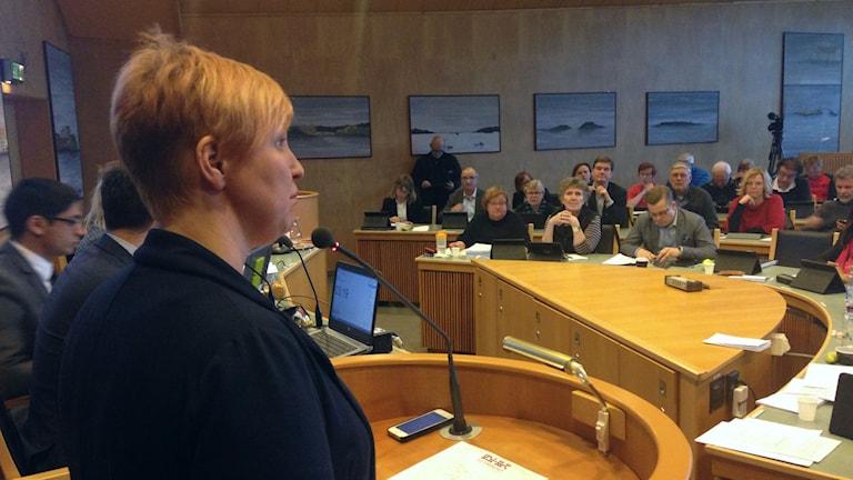 Carina Sammeli (S), ordförande i Barn- och utbildningsnämnden i Luleå kommun.